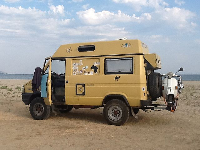 SOLD – Iveco Daily 4×4 Panel Van Camper with Motorcycle lift – Italy – €18,999