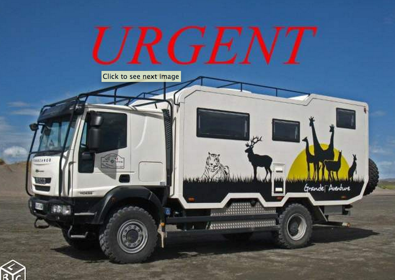 SOLD – URGENT – Camping Car Truck Iveco 4X4 – France