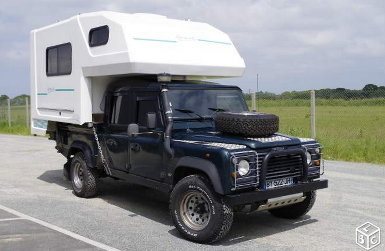 SOLD – DEFENDER 130 300 TDI + REMOVABLE CAMPER – France